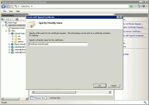 Creazione di un certificato autofirmato su IIS