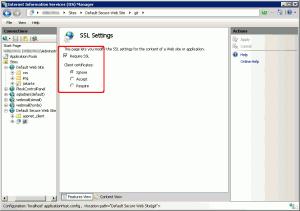 Impostazioni SSL per la cartella dei repository Git