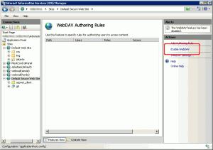 Abilitazione del protocollo WebDAV