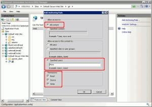 Regola di collaborazione WebDAV per la cartella principale dei repository