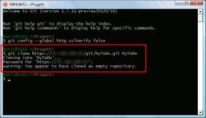 Inizializzazione di un repository Git